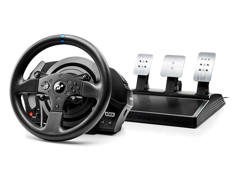 thrustmaster t300 rs gt wheel and pedals