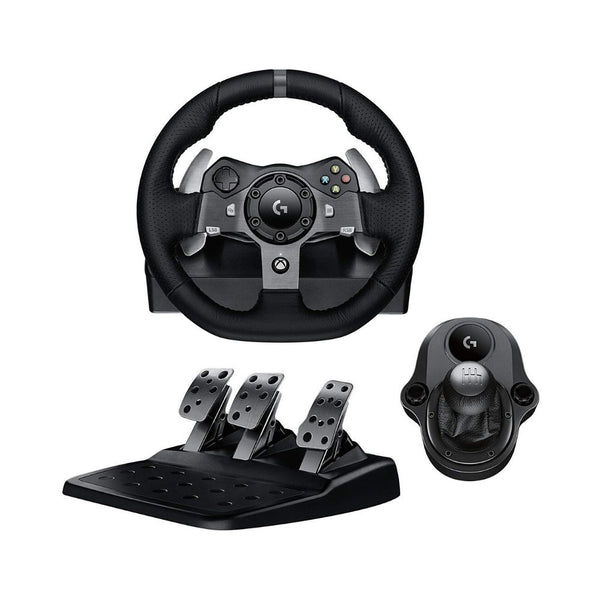 Logitech G920 Driving Force Racing Wheel, Pedals and Shifter Bundle for Xbox One & PC