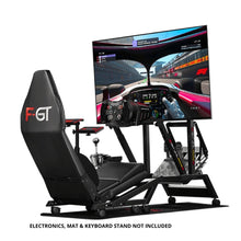 Next Level Racing F-GT Racing Simulator + Single/Triple Monitor Stand
