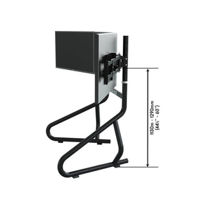 Trak Racer Triple Monitor Floor Stand (Suits 22 To 34 Inch Monitors/TVs)