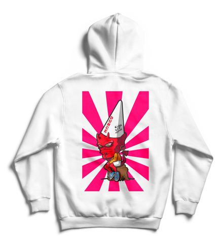 Kicked Out Of Heaven Devil Hoodie White