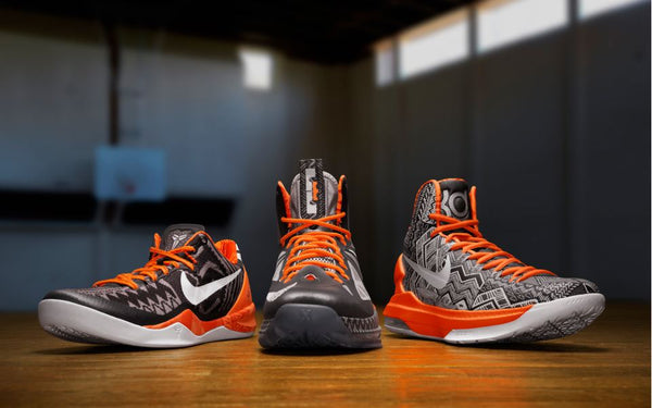 834aa4299f5 Each of these guys has their signature shoe silhouette decked out in BHM  colours and ...