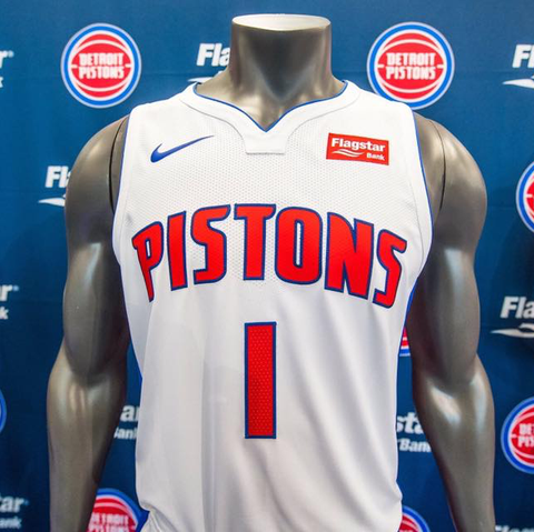 Detroit Pistons Nike NBA Association Jersey