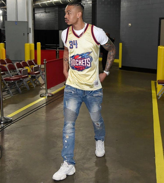 Gerald Green Houston Rockets Gold Jersey