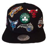 Mitchell and Ness NBA All Over Snapback East