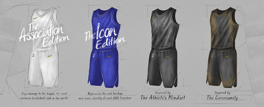 Nike Association and Icon NBA Jerseys