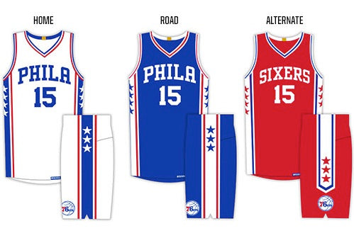0c6bd8548 ... Throwback Jersey Philadelphia 76ers Reveal New Uniforms for 201516 NBA  Season June 19