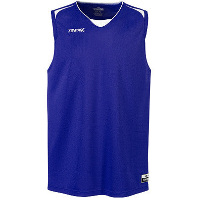Spalding Attack Basketball Jersey - Royal Blue / White