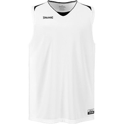Spalding Attack Basketball Jersey - White / Black