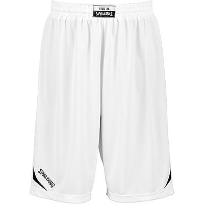 Spalding Attack Basketball Shorts - White / Black