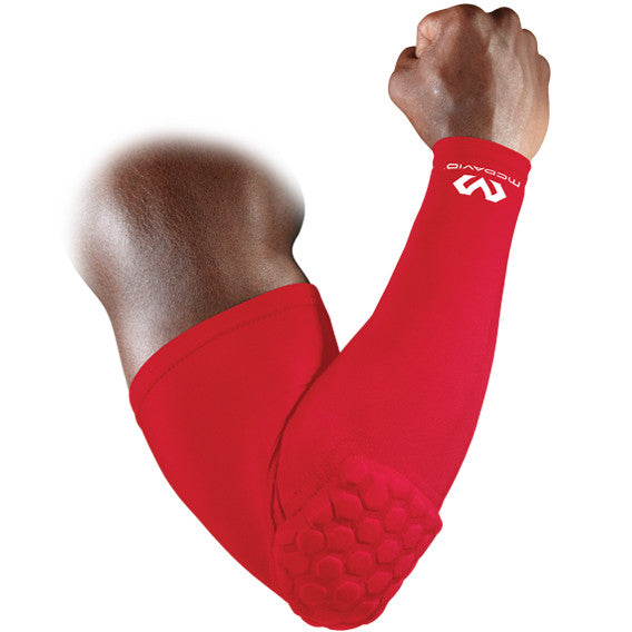 McDavid HexPad Power Shooter Arm Sleeve - Red
