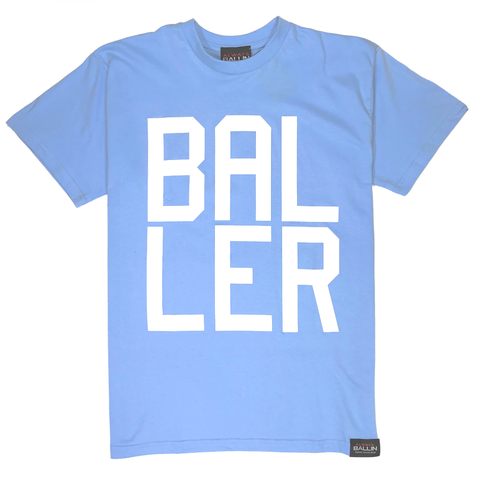 Always Ballin Baller T-Shirt - Sky Blue