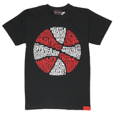 Always Ballin Basketball Is... T-Shirt - Black / Red
