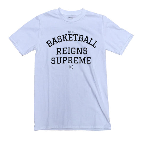 Basketball Reigns Supreme Logo Tee - White