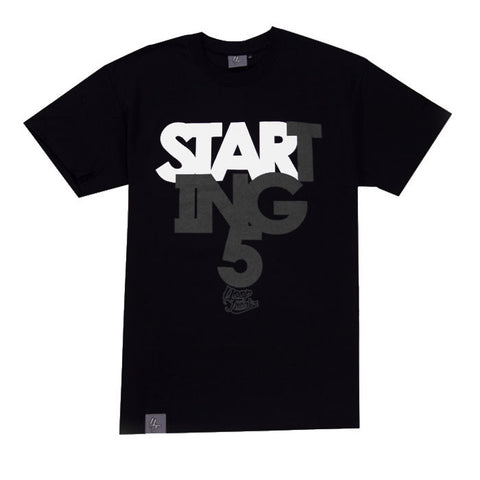 Hoop Freakz Starting 5 T-Shirt - Black