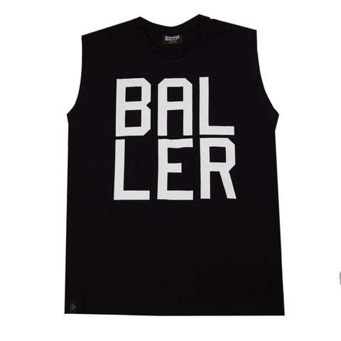 Always Ballin Baller Sleeveless T-Shirt - Black