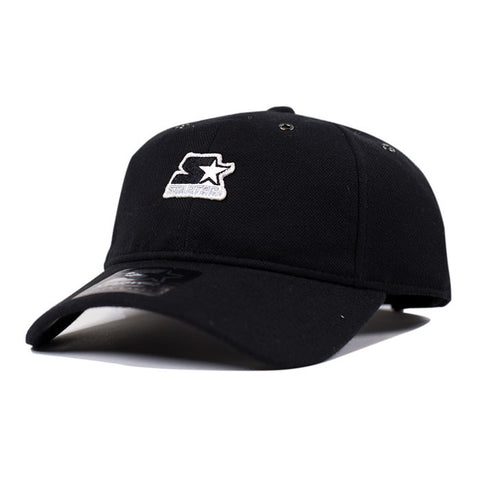 Starter Pique Series Pitcher Strapback - Black