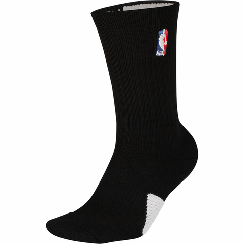 Jordan NBA Flight Crew Socks - Black / White