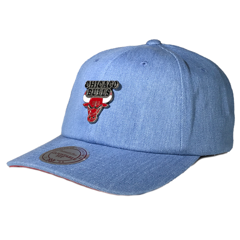 Mitchell & Ness Denim Pin Strapback - Chicago Bulls