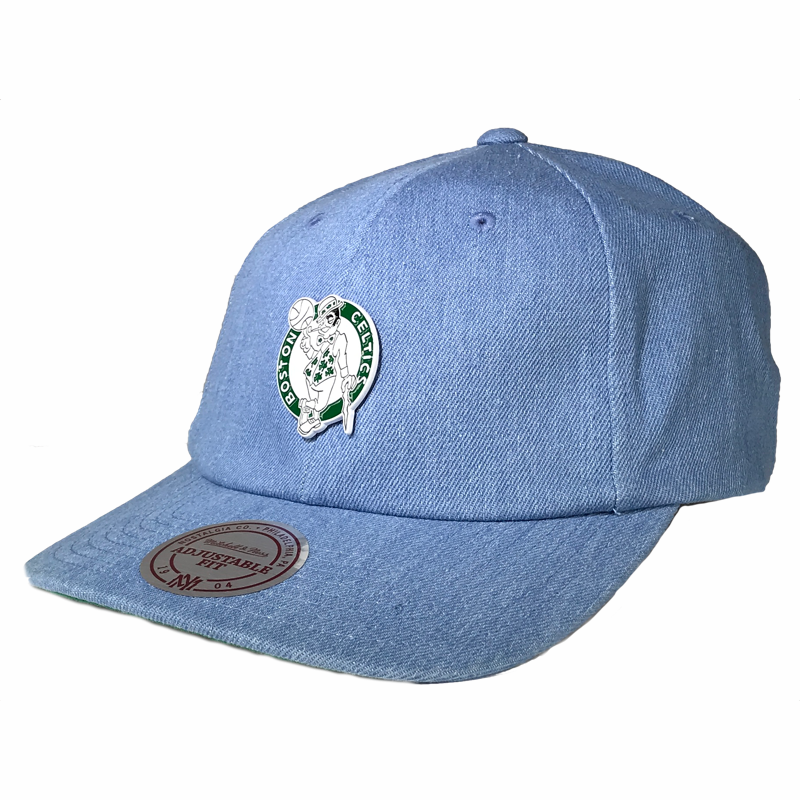 Mitchell & Ness Denim Pin Strapback - Boston Celtics