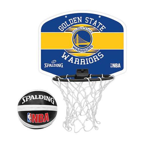 Spalding NBA Mini Basketball Hoop - Golden State Warriors