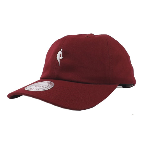 Mitchell & Ness NBA Little Dribbler Dad Hat - Burgundy