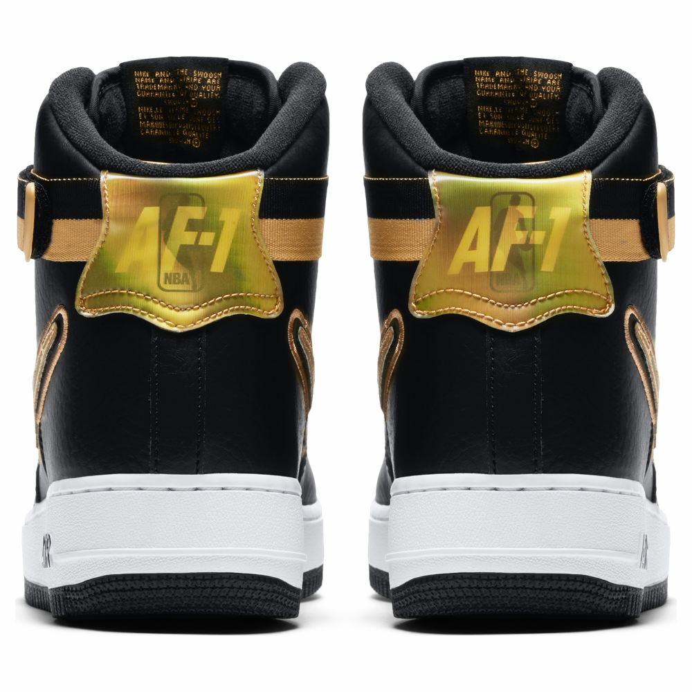 hot sale online 2dbbc 7de55 Nike NBA Air Force 1 High 07 LV8 Sport - Black  Gold