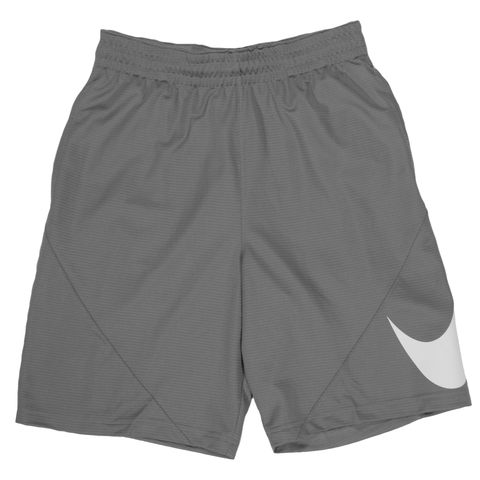 Nike Oversized Swoosh Basketball Shorts - Cool Grey