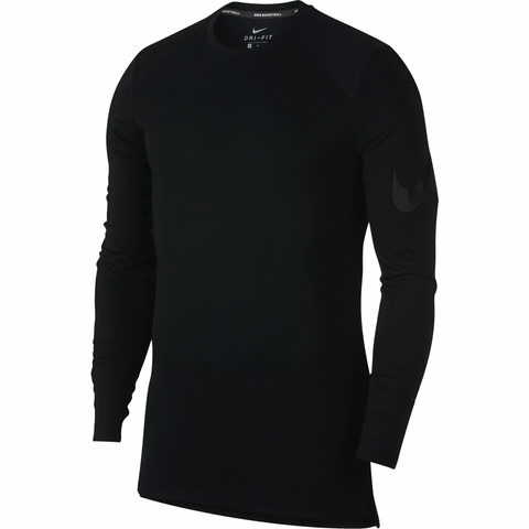 Nike Breathe Elite Long Sleeve Basketball Top - Black