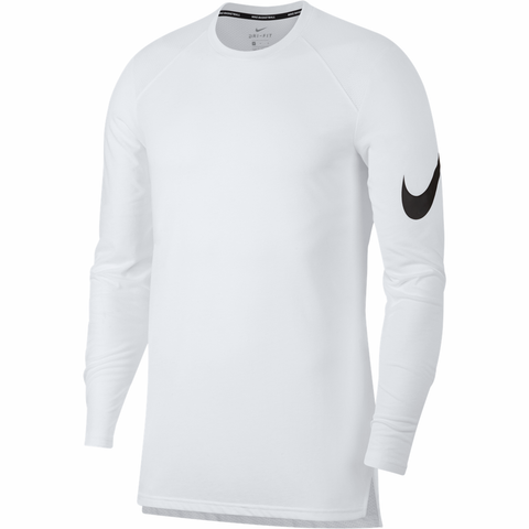 Nike Breathe Elite Long Sleeve Basketball Top - White - Small Only