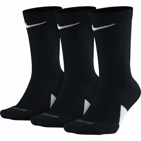 Nike Elite Basketball Socks (3 Pairs) - Black - UK 2-5