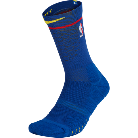 Nike NBA Elite Quick Crew Socks - Golden State Warriors City Edition