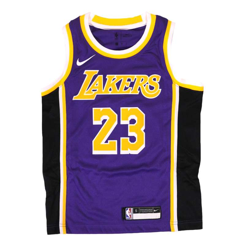 Nike Kids LA Lakers LeBron James NBA Jersey - Youth Lakers Purple Jersey UK  – Hardwood Ventures b308d14ee