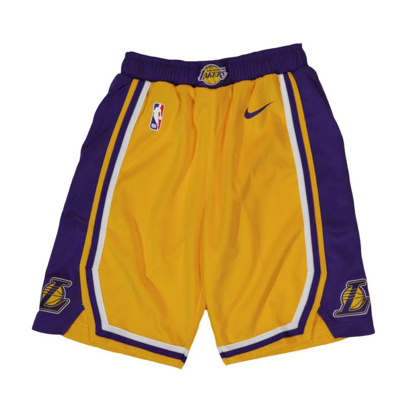 Nike LA Lakers Kids NBA Shorts - Yellow Lakers Shorts – Hardwood ... e5a717c4afe2