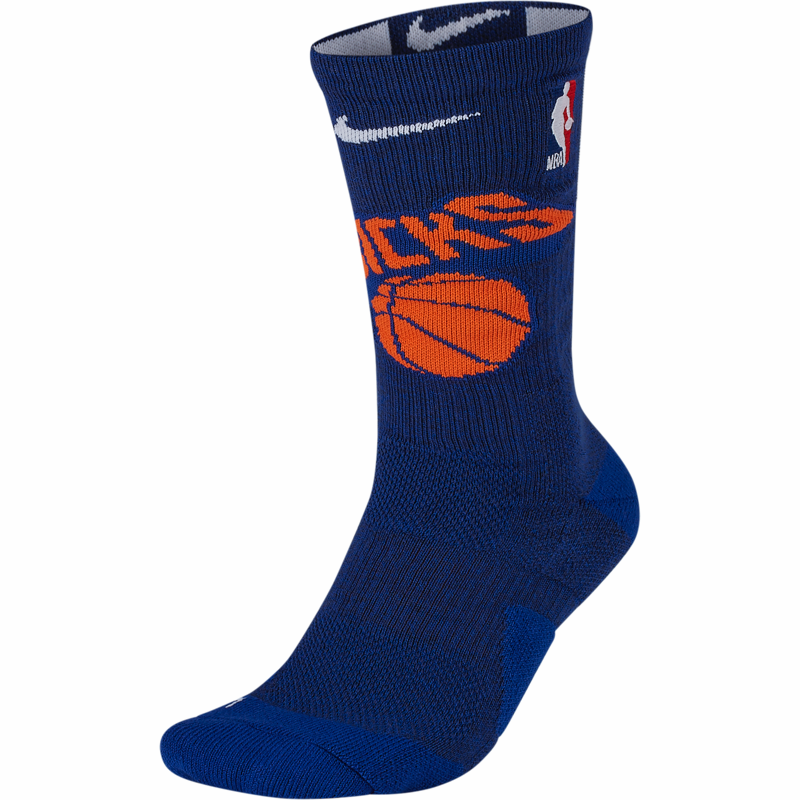 Nike Elite NBA Basketball Socks - New York Knicks