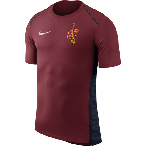 Nike NBA Hyper Elite Warm Up Short Sleeve Shirt - Cleveland Cavaliers