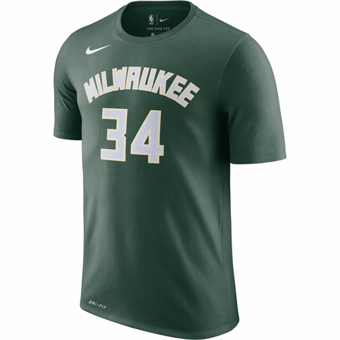 Nike NBA Name & Number Dri-FIT T-Shirt - Milwaukee Bucks - Antetokounmpo