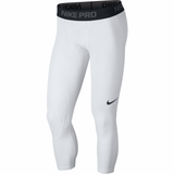 Nike Pro 3/4 Length Basketball Tights - White