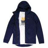 Nike Spotlight Full-Zip Basketball Hoodie - Blue Void