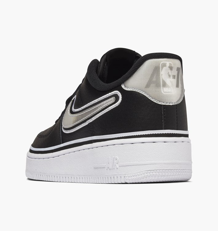 Nike Air Force 1 Low  07 LV8 Sport - Black   White - Brooklyn Nets ... eb2b58e23