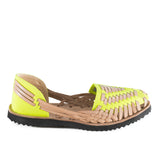 Ix Style Neon Yellow Leather Sandal