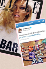 Bar Refaeli Rafaeli Loves Ix Style Sandals!