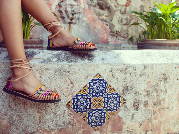 Ix Style | Women's Traditional Mayan Gladiator Woven Leather Huarache Sandals