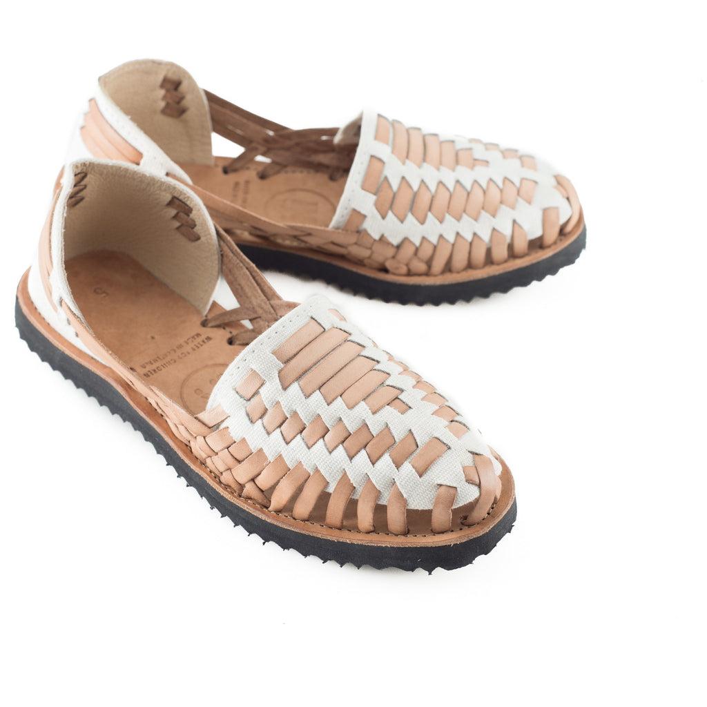 Women\u0027s Beige Woven Leather Huarache Sandals , Ix Style , Water For  Children