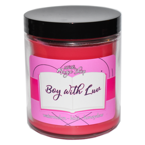 BTS Boy With Luv Soy Candle Jar