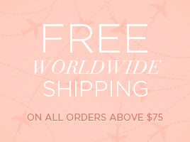Free shipping worldwide on all orders over $75