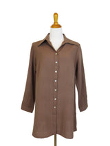 AA142 - Tab-Hem Button Back Shirt