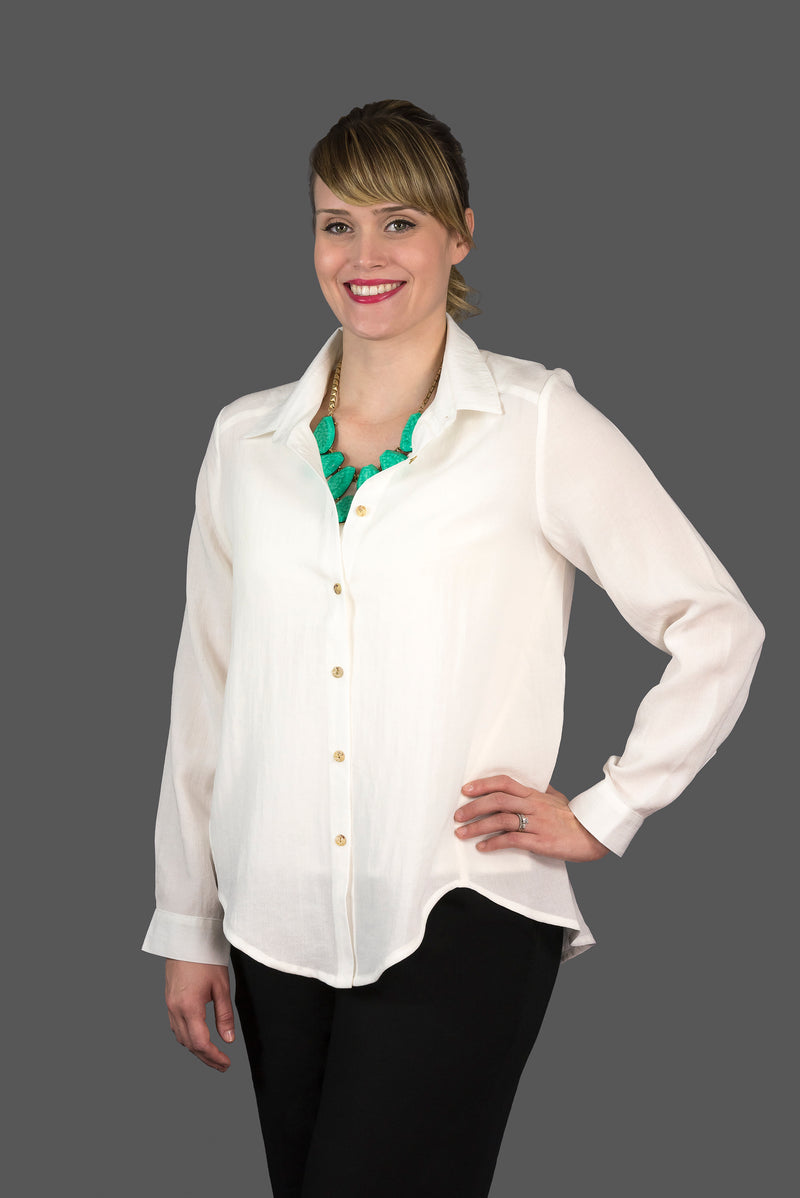 AA175 - Oversize Classic Button Top