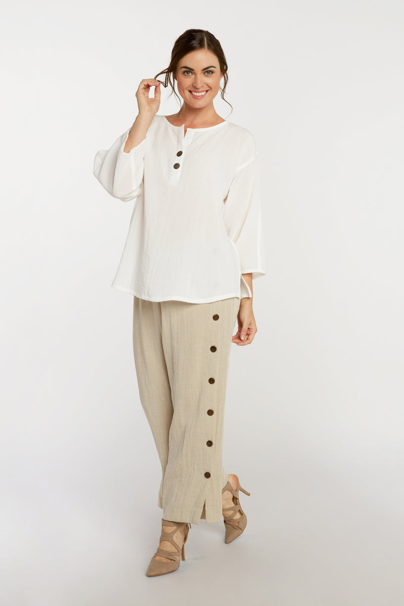 AA216 - Coconut Button Pullover