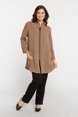 AA218 - Side Button Zippered Tunic